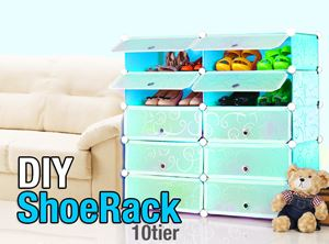 Plain Blue 10C DIY Shoerack (SR10B)