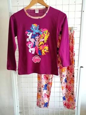 Pyjamas PLAIN LITTLE PONY Purple - Long Sleeve (Big Size) 9y-14y