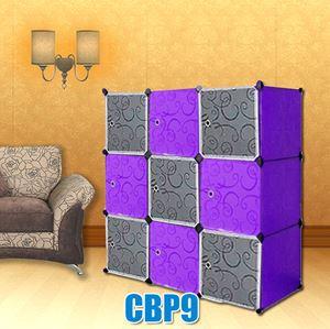 PLAIN CHECKER PURPLE BLACK 9C DIY WARDROBE (BP9)