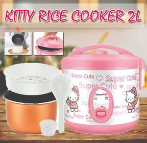 Mini Portable Electric 2L Hello Kitty Rice Cooker Cooking Pot NonStick Inner Pot