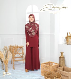 05 EMMALINE SUIT IN ROSE MAROON