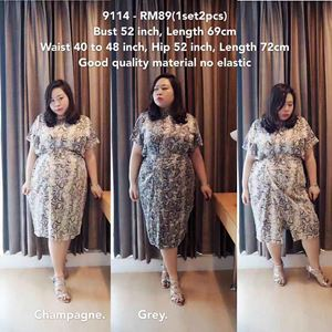 9114 *Ready Stock* Bust 52inch / 132cm