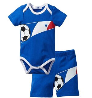 @  D4370-2 BLUE ROMPER SET