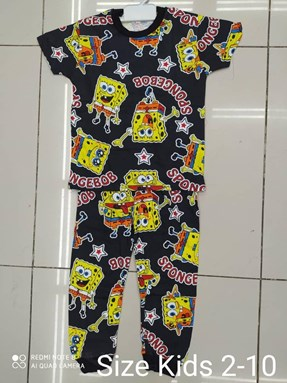 Pyjamas  SPONGEBOB BLACK EDITION: KIDS 2-10