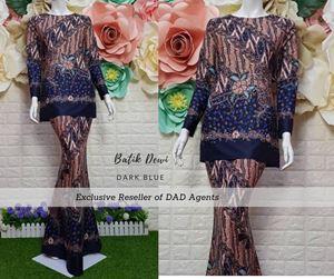 Kurung Batik Dewi Dark Blue