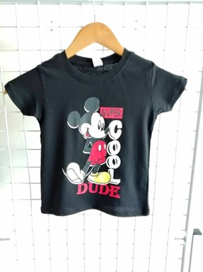 T-Shirt Short Sleeve Mickey Super Cool Black: Size 1y-6y (1 - 6 tahun) QK