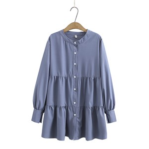 Tiered Blouse (Light Blue)