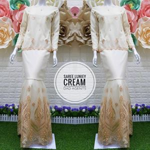 Kurung Saree Luniey Cream