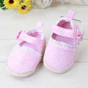 PINK LACE PRE-WALKED SHOES