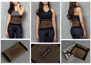 Salua Germanium Fat Burn Slim Health Fitness Belt Waist Trainer Body Shaper [Korea] *Ready stock