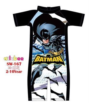 @  SW167 AILUBEE BATMAN SWIMMING SUIT ( SZ 2-10Y )