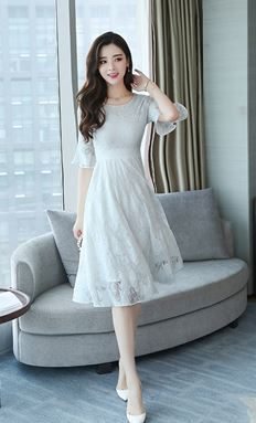 Three Color Lace Dress