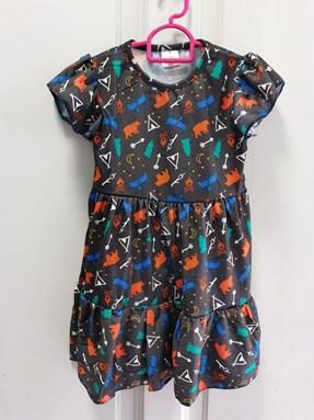 Princess Dress : Design Camping bear, size 2-4