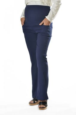 Maternity Bell Bottom Pant Mi - Navy Blue