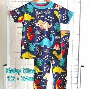 Pyjamas DINO ROAR  : BABY size 12m -24m