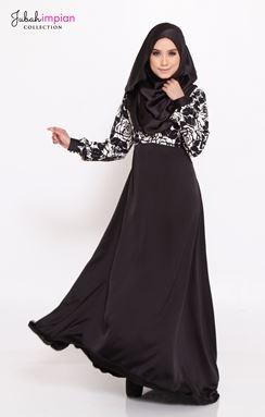 JUBAH ROSALINDA ( Black )