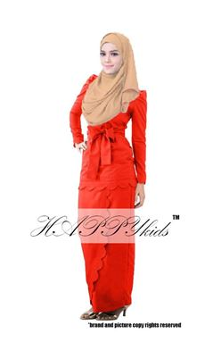 @  HAPPYKIDS SCALLOP  ( WOMAN - RED  )  S-2XL