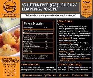 Gluten-Free (GF) 'Cucur' /  'Lempeng' / Crepes