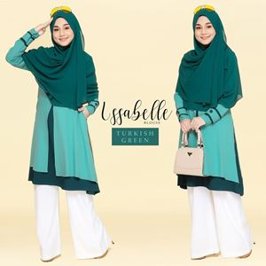 BLOUSE ISSABELLE - TURKISH GREEN