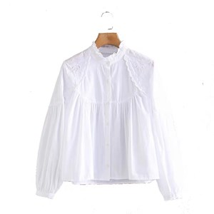 COTTON WHITE EMBROIDERED TOP