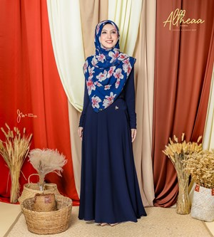 ALTHEA IRONLESS SUIT IN DARK BLUE