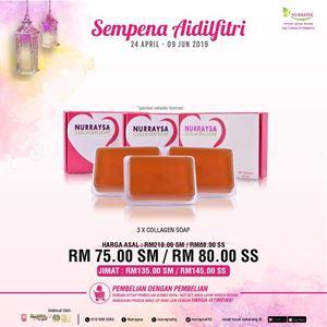 NURRAYSA Collagen Soap 3 unit