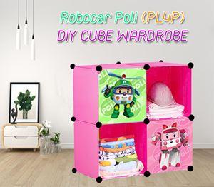 ROBOCAR POLI PINK 4C DIY WARDROBE (PL4P)