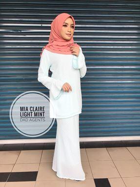 Kurung Mia Claire Light Mint
