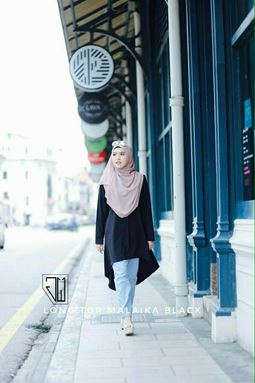 Long Top Malaika ( Black )