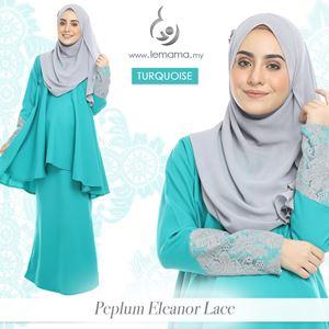 Peplum Eleanor Lace : Turquoise