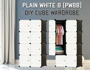 Plain White 8C DIY Wardrobe (PW8B)