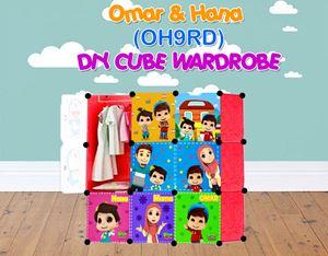 Omar & Hana RED 9C DIY WARDROBE (OH9RD)