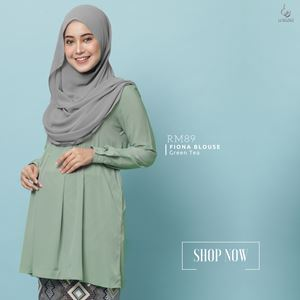 Fiona Blouse : Green Tea