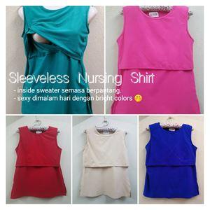 PAKEJ JIMAT Sleeveless Nursing Shirt : 2 HELAI RM49 sahaja