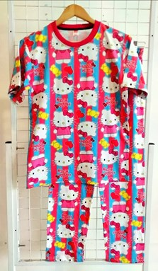 SIZE XL - 2XL DEWASA Pyjamas HELLO KITTY LOVE PINK (IKIDS)