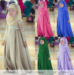 Dress Jubah Kids + Tudung Beriben - S0035-big