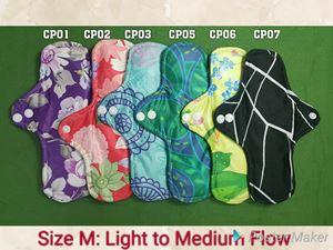Qissara Bamboo Charcoal Cloth Pad - Size M