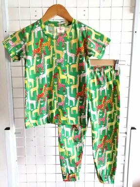 Pyjamas JR GREEN GIRAFFE :  Kids