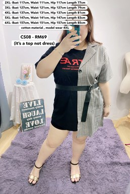 CS08 *Bust 46 to 62 inch/ 117-157cm