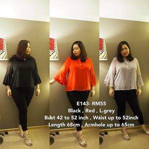 E143 *Ready stock  Bust 42 to 52 inch/107-132cm