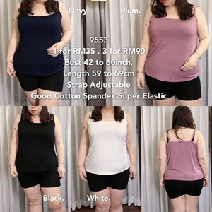 9553 Ready Stock *Bust 42 to 60 inch/ 106-152cm