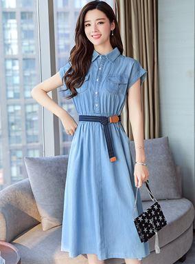 Korean Denim Dress