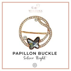 Buckle Papillon Silver Night