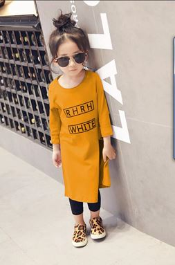 Kids Top + Legging - Yellow Mustard
