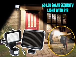 60 LED Solar Security Light With PIR N00982 ETA 23/10