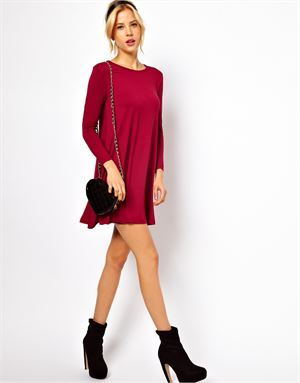 PETITE Exclusive Swing Dress With Long Sleeves