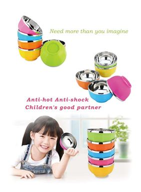 Korean Anti Shock/Hot Color Bowl 6pcs