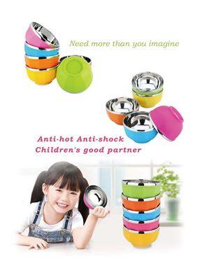 Korean Anti Shock/Hot Color Bowl 6pcs
