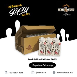 Fresh Milk with Dates 200G X 24 PKTS