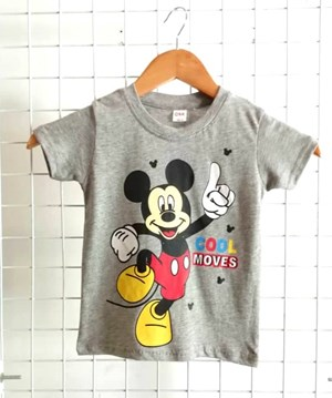 T-Shirt Short Sleeve Mickey 2: Size 1y-6y (1 - 6 tahun) QK